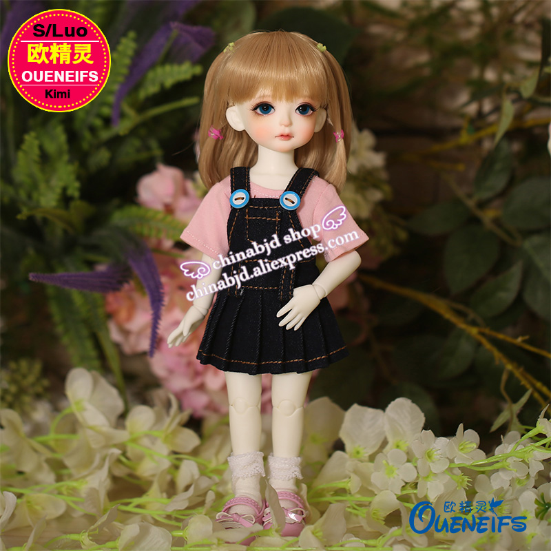 OUENEIFS free shipping pink or white T-shirt and black jeans suspender skirt 1/6 bjd sd doll clothes,no doll or wig YF6 to 93 karmart cathy doll 2 in 1 vitamin c tint tinted gluta gloss pink lip korea free shipping