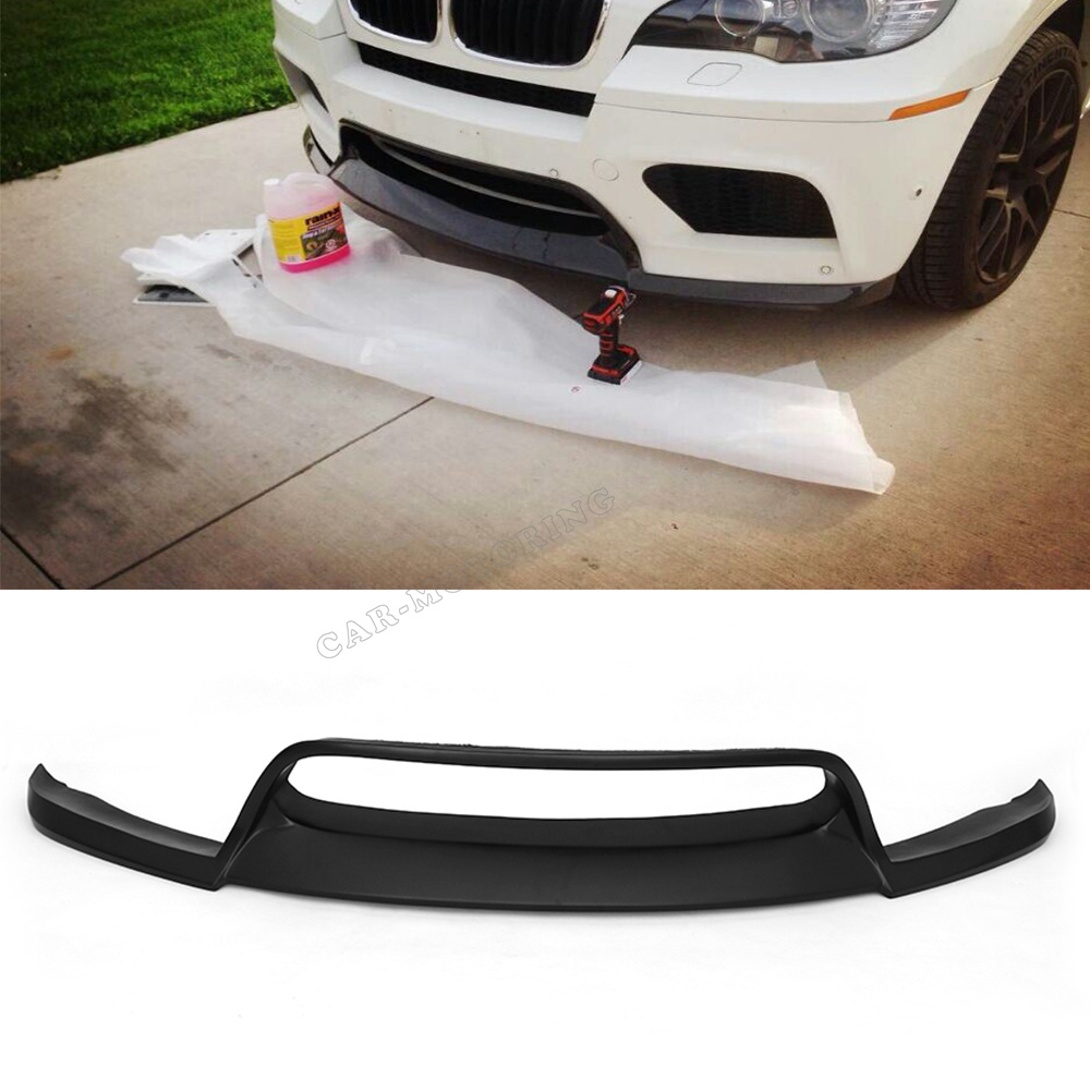Front Bumper Lip Spoiler For Bmw E71 X6m Bumper 2008 2013 Car