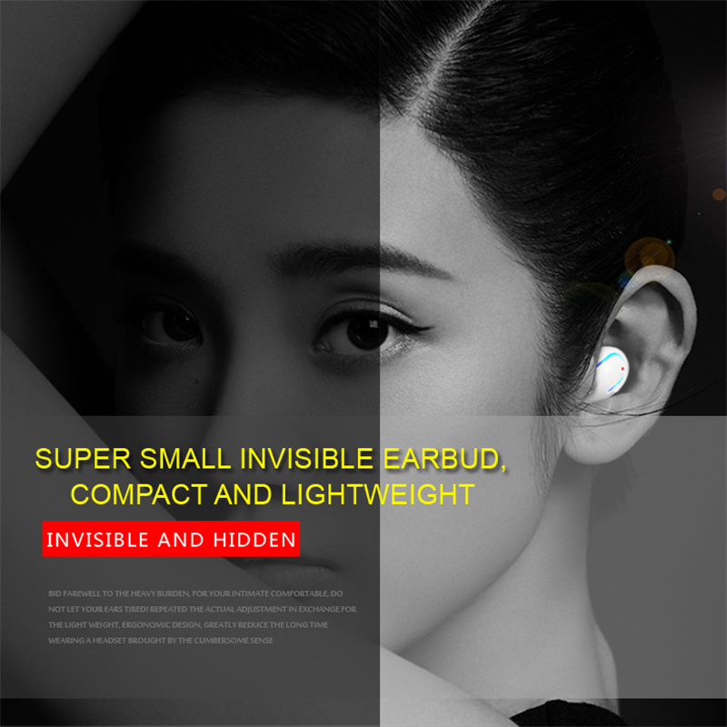 LONGET Bluetooth Earphone Mini Sport Earphones Wireless Bluetooth 4.0 Portable Headset With Mic Earbuds Handfree For Phone mi mini invisible car calls wireless bluetooth earphone headset portable for phone