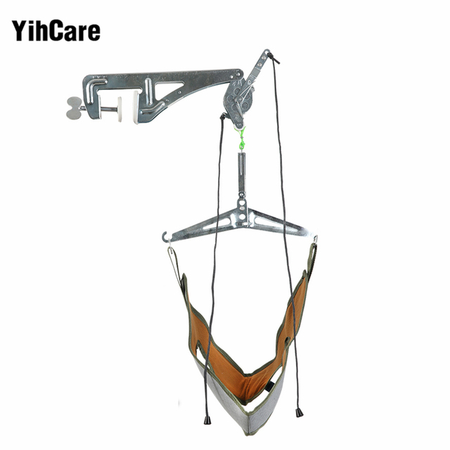 YihCare Door Hanging Neck Pain Relief Massager Cervical Traction Device Kit Stretch Neck Back Stretcher Adjustment Chiropractic