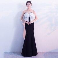 Black & White Bow Strapless Sleeveless Night Club Dresses Sexy Women Dress For Party Evening Elegant Gowns Vestidos Verano 2018