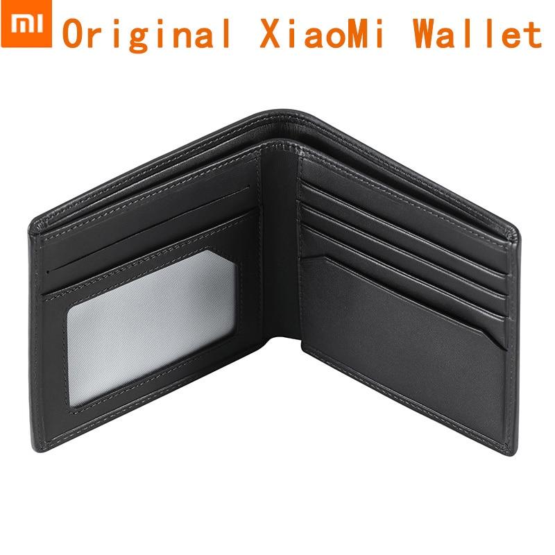 imágenes para Original Xiaomi Carpeta del Cuero Genuino Negro Marrón Hombre Elegante Cartera piel de Vaca de Negocio Estándar Carteras Monedero Bifold Bolsillo