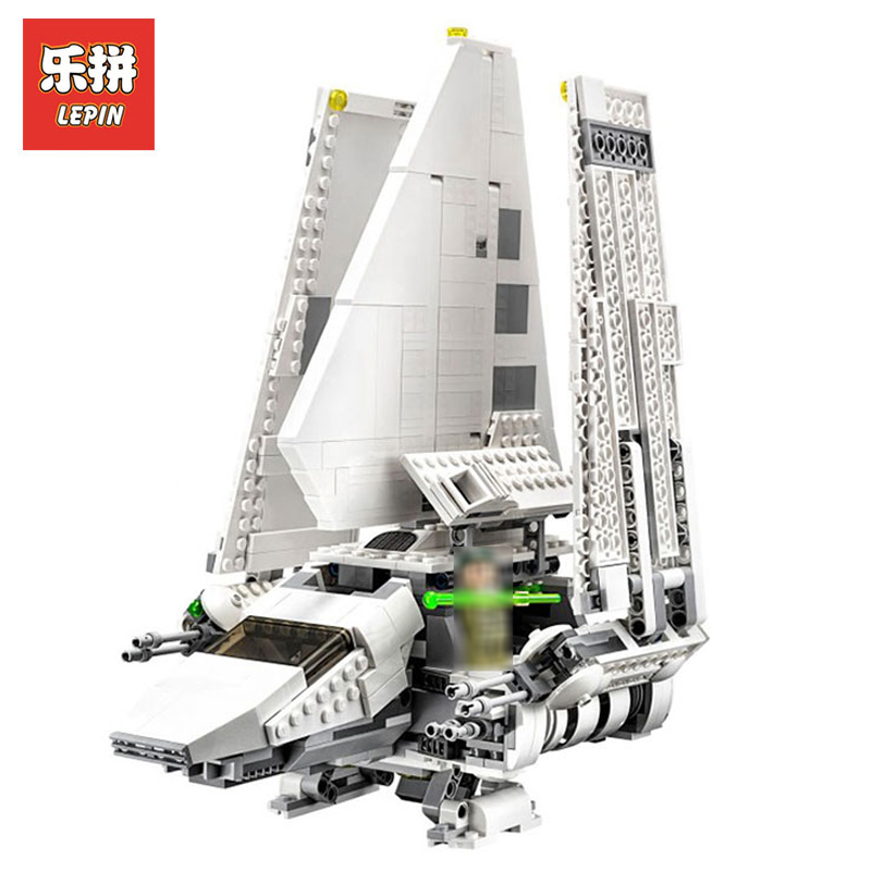 In Stock DHL Lepin Sets 05057 937Pcs Star Wars Figures Imperial Shuttle Tydirium Model Building Kits Blocks Bricks Kid Toy 75094