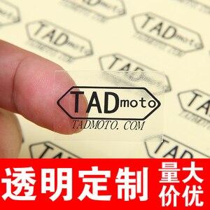 Image 2 - Étiquette autocollante transparente 30mm avec logo personnalisé (sauf impression de logo de couleur blanche)