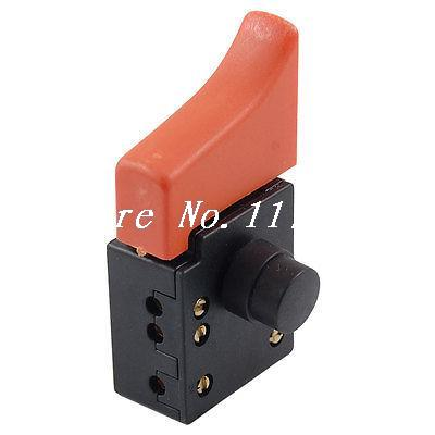 цена на AC 250V/6A 125V/12A 5E4 Plastic SPST Lock on Circular Saw Trigger Switch
