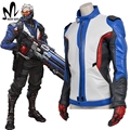 hot game OW soldier 76 leather jacket superhero Soldier 76 cosplay costume Halloween costume for adult  soldier 76 JACKET