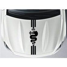 YONGXUN, para Alfa Romeo MiTo capó pegatinas calcomanías de gráficos franjas de carreras 147 156 159 166 Giulietta Araña GT DA-892