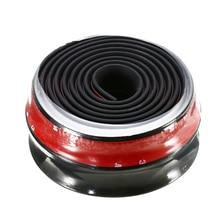 Styling Mouldings 1pc Car Front Bumper Lip Black Universal Body Spoiler Protector Splitter Guard Cover Valance 250x6.5cm