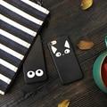 Un par lindo cat oídos y ojos negro cubierta para iphone 7 7 plus 6 6 más 6 s + Soft TPU Fundas Coque para el Amigo Amantes Mujer Chica