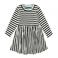 2016 autumn little girl dress stripe long sleeve baby girl dresses fall fashion kids dress for little girls brand Christmas gift