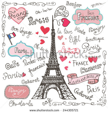 Eiffel Tower Archway Paris City France hot air balloon white clouds Backgrounds Vinyl cloth Computer print wall backdrops