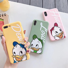 Matte Silicone Phone case For iphone XS MAX X XR pink Mickey Donald Duck Daisy TPU Soft cover 7 8 6 6S Plus