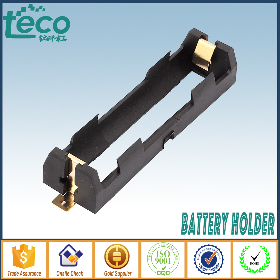 200Pcs lot High Quality 18650 Battery Holder With Bronze Pins SMT one cell 18650 SMD TBH