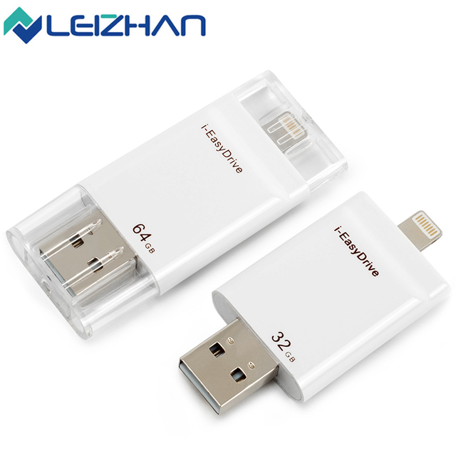 Super Speed i-EasyDrive OTG USB Flash Drive Made For iPhone 5 5C 5S 6 6Plus 6S Plus 7/iPad ios/Android & Mac/PC 32GB 64GB White