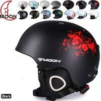 MOON Ski Helmet Ultralight And Integrally Molded Breathable Snowboard Helmet Men Women Skateboard Helmet Multi Color