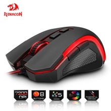Redragon USB Gaming Mouse 7200 DPI 8 buttons ergonomic design for desktop computer accessories programmable Mice gamer lol PC