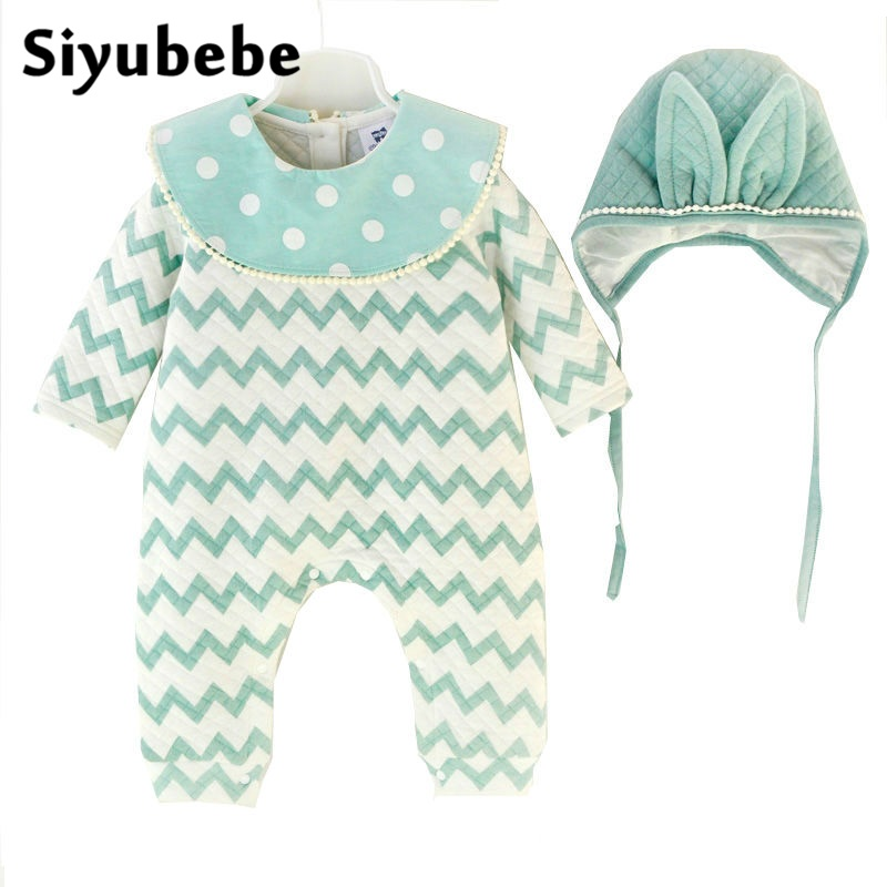 Baby Clothes Fashion Baby Girl Romper Set Long Sleeve Cotton Cute Infant Ropa Bebe Rompers Jumpsuit Newborn Baby Girls Clothes autumn winter baby girl rompers striped cute infant jumpsuit ropa long sleeve thicken cotton girl romper hat toddler clothes