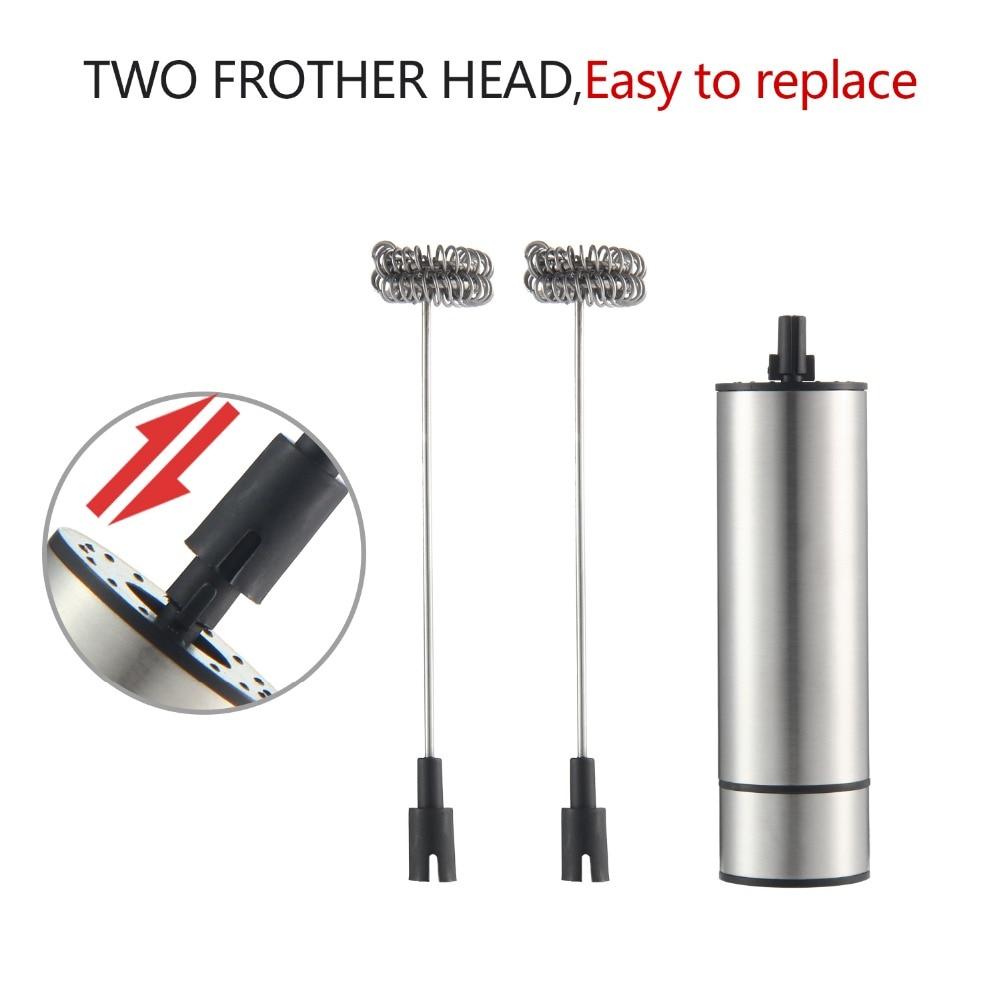 Electric Handheld Milk Frother Foamer Double Spring Triple Spring Whisk Head Agitator Blender Mixer Stirrer Coffee Maker Tool