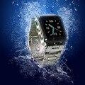 Venta caliente ip67 a prueba de agua w818 smart watch con tarjeta sim pantalla táctil de la cámara bluetooth desbloquear el teléfono GSM puede nadar con que