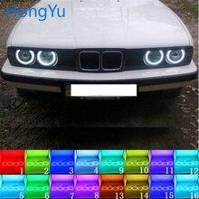Для BMW E30 E32 E34 Аксессуары Последние Фары многоцветный RGB светодиодный ангельские глазки Halo Кольцо глаз DRL RF пульт дистанционного управления