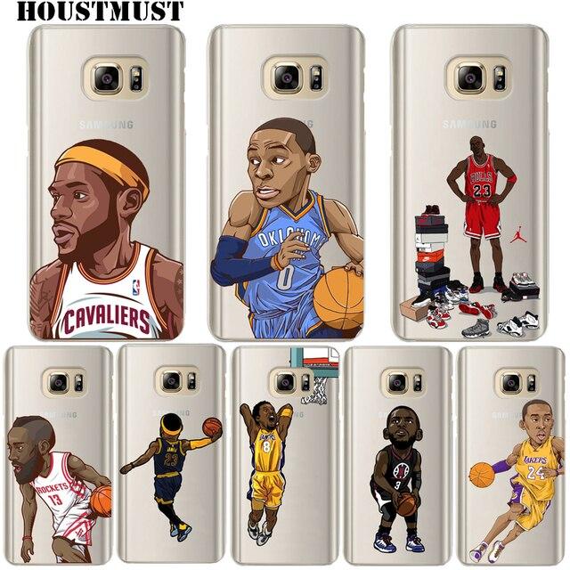 Michael Jordan Dwyane Wade James Harden Kobe Bryant Soft Phone case for  Samsung Galaxy S6 S7Edge S8 S8Plus 1496216bf
