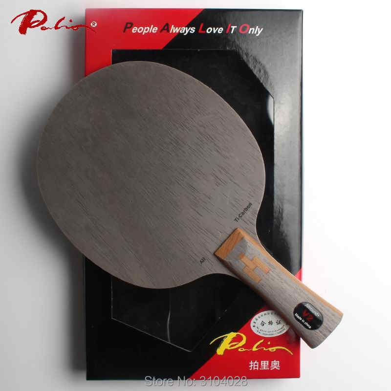 Palio official V-2 V2 table tennis balde carbon+ Ti blade fast attack with loop with high elastic table tennis racket hollow