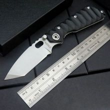 Custom ST-1 Knives Tactical Survival Folding Pocket Knife Stonewashed 5Cr13MOV 56HRC Blade G10 Handle Camping knife