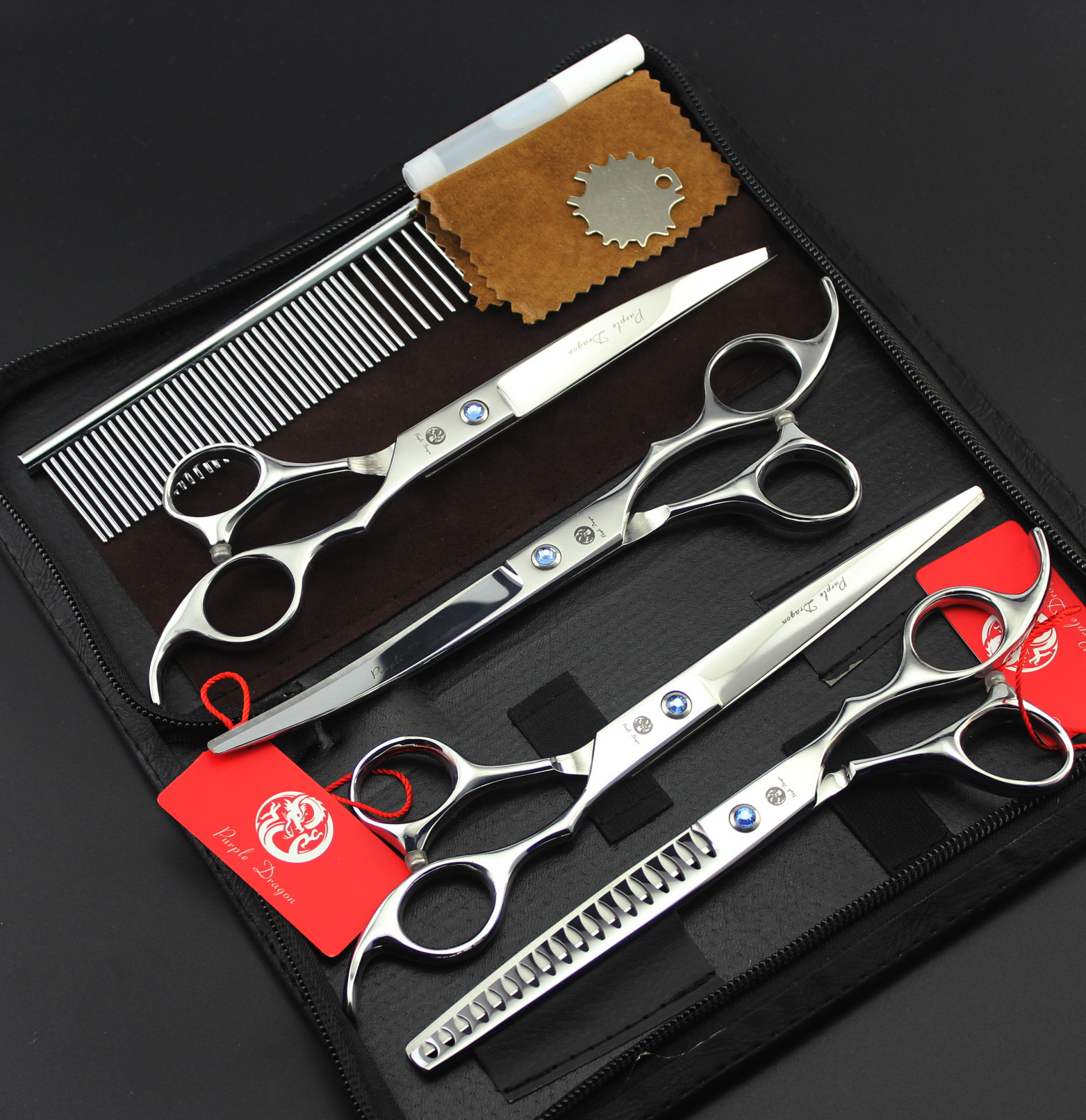 7inch Professional grooming scissors sets pet 1pc 1pcTHINNING 2 pcs 4pcs7inch Professional grooming scissors sets pet 1pc 1pcTHINNING 2 pcs 4pcs