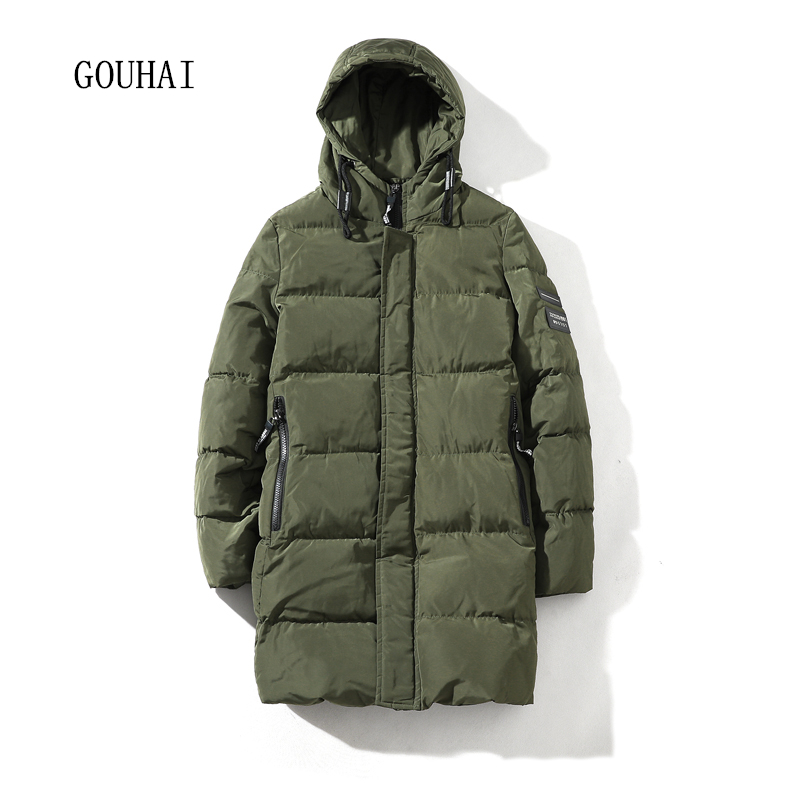 Hooded Winter Jacket Mens 2017 Casual Solid Male Coat Zipper Pockets Winter Parkas Men Thicking Long Parka Men Plus Size 4XL 5XL winter jacket men 2016 brand parka plus size men s hooded parka zipper quilted coat casual jackets