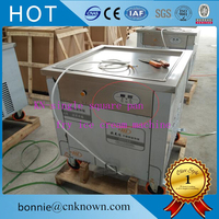 Commercial thailand fry fried ice roll pan machine flat pan rolled fried ice machine ice cream rolls machine by sea