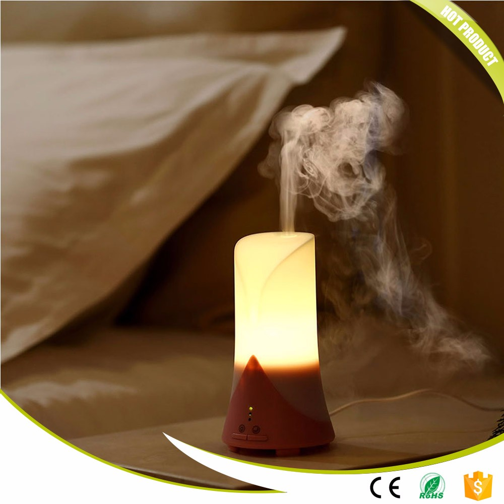GRTCO Mini Home Ultrasonic Air Humidifier Aroma Essential Oil Diffuser with Night Light