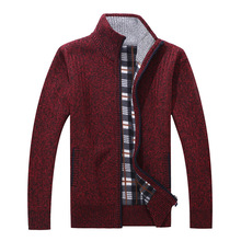 AmberHeard Men Cardigan Sweater 2018 Autumn Winter Fashion Warm Cashmere Wool Zipper Pullover Sweaters Knitwear Sweter Hombre