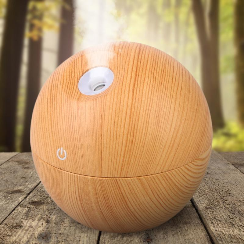 Hot 130ml Wooden Grain USB Air Aroma Electric Aromatherapy Essential Oil Diffuser Ultrasonic Air Humidifier for Office Home hot sale humidifier aromatherapy essential oil 100 240v 100ml water capacity 20 30 square meters ultrasonic 12w 13 13 9 5cm