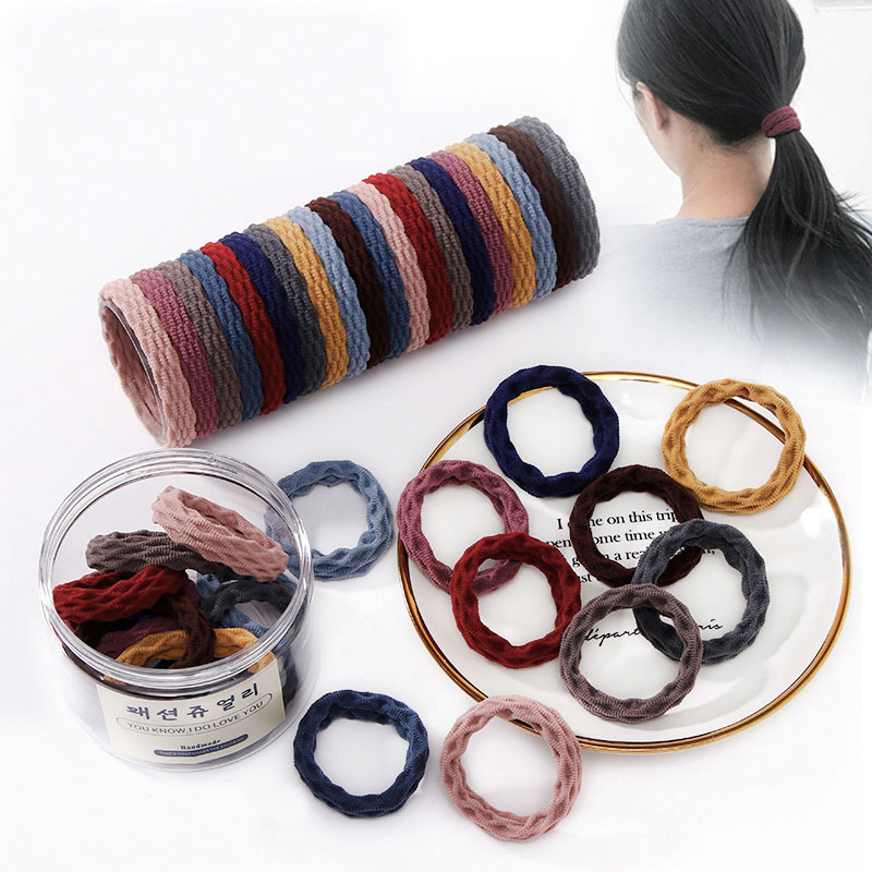 10pcs/Set New Women Basic Crude Elastic Hair Bands Ponytail Holder Scrunchie Headband Rubber Bands Fashion Hair Accessories