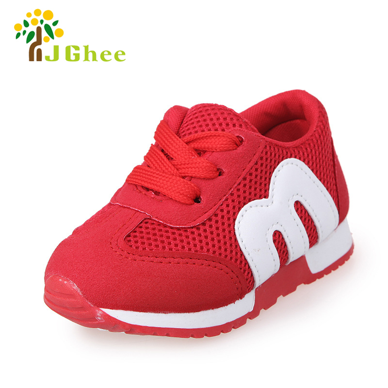 Kids Fashion Shoes For Boys Girls Toddler Boy Girl Soft Sports Shoes Children Running Sneakers Air Mesh Breathable 21-30
