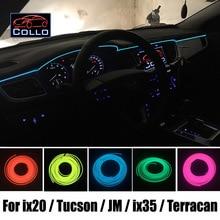 EL Провод Для Hyundai ix20 ix25/Tucson/JM/ix35/Tucson ix/Terracan/Романтическая Атмосфера Лампы Украшения Холодный Свет линии