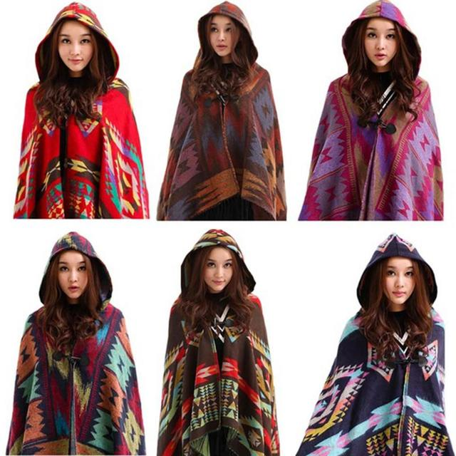 Women Lady Scarf Shawl Dual Cape Hollow Cloak Fringed Knitting Tassel Ethnic Stylish Women's Scarves