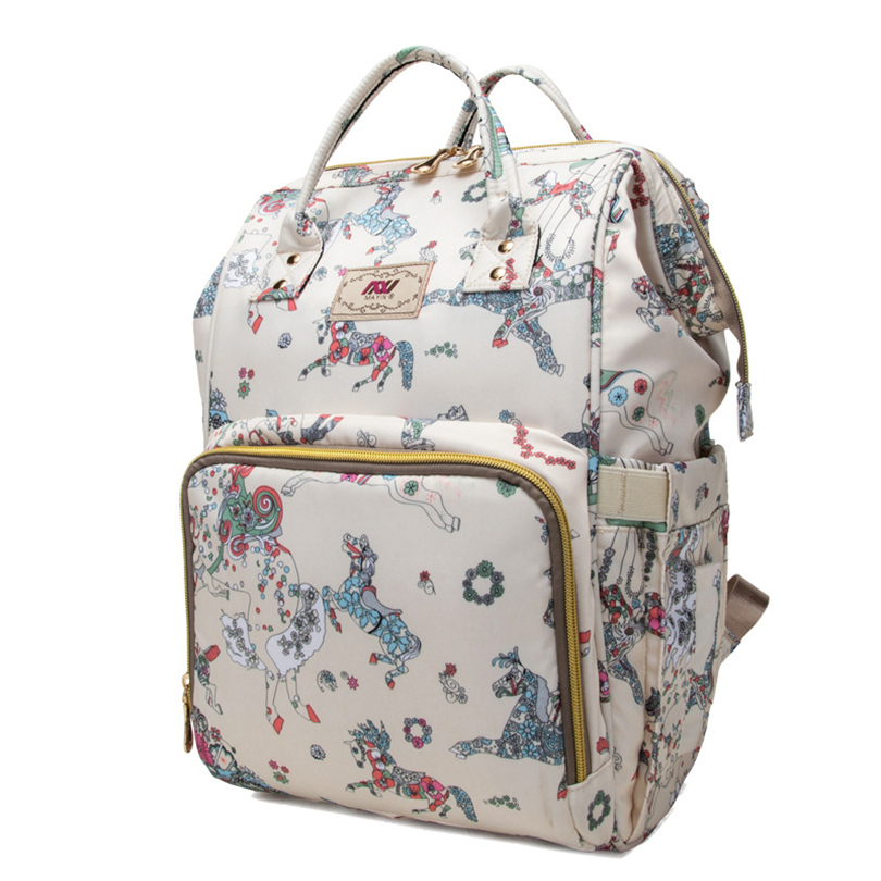 2018 New Mummy Bag Fashion Shoulder Mother Bag Maternal And Child Package Multi-function Diaper Bag Pregnant Women Backpack multi function large capacity shoulder mummy bag fashion out of the baby bag maternal and child shoulder bag one generation