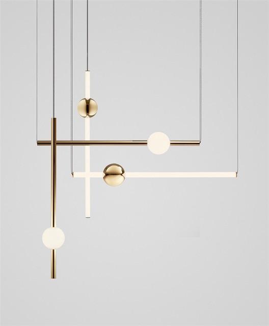 Postmodernistyczny artystyczny Design złota dioda wisiorek światła kreatywny długi kij nocna szlachetny salon Hotel Hall wisząca lampa oprawy