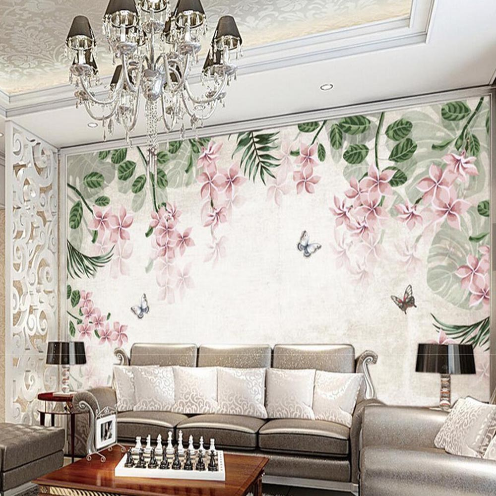 European 3d Photo Wallpaper Flower Wall Mural for Living Room TV ...