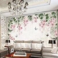 European 3d Photo Wallpaper Flower Wall Mural for Living Room TV Background Wall Paper Covering Murals Rolls Wall Art Decor