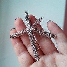 Женщины Симпатичные Элегантный Звезда Пентаграмма Шпильки Starfish Зажим Для Волос Девушки Шпильки Русалка Волос Клипы Хаара Аксессуары