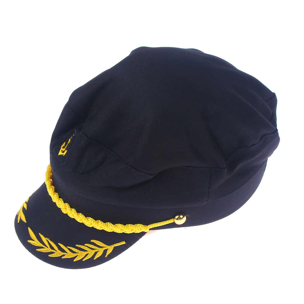 08fb202d124 Detail Feedback Questions about 1PC Black Unisex Boat Ship Sailor Captain  Costume Hat Cap Navy Marine Admiral Hat on Aliexpress.com