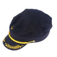 1PC Black Unisex Boat Ship Sailor Captain Costume Hat Cap Navy Marine Admiral Hat