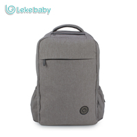 Lekebaby Fashion Mom Stylish Dad Diaper Backpack Baby Care Double Layer Travel Bag For Baby Stroller