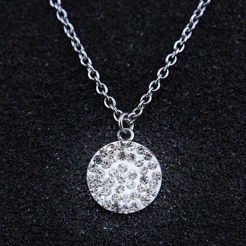 Very Crystal pendant necklace gold silver stainless steel necklace for  TR74