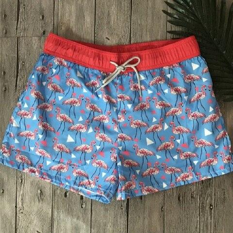 Marca dos Homens Calcinha de Natação Fghgf Pássaro Board Calças Curtas Masculino Verão Boxer Praia Troncos Banho Ajustável Bandagem
