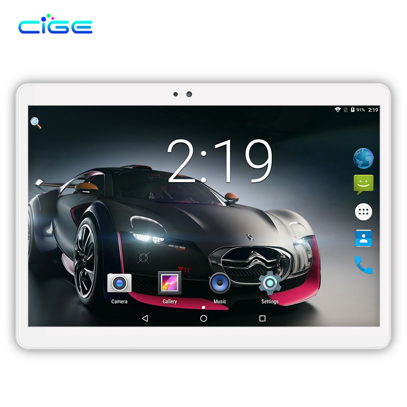 все цены на CIGE 2018 New Free Ship 10 inch Tablet PC Octa Core 4GB RAM 64GB ROM Dual SIM Cards 3G WCDMA Android GPS Tablet PC 10.1 +Gifts онлайн