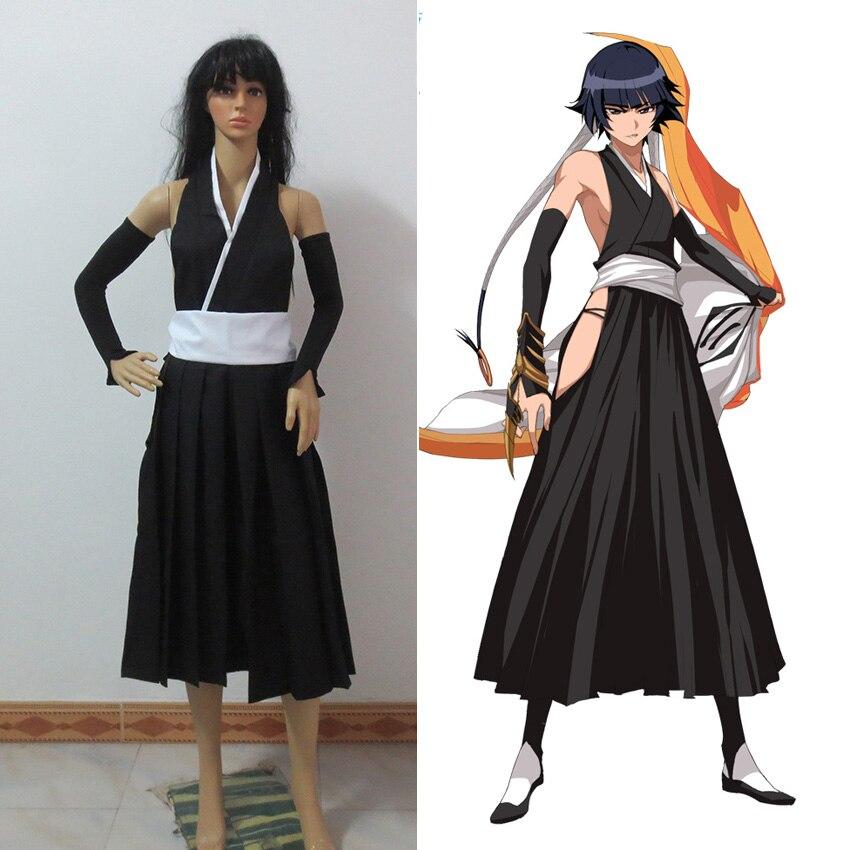 L'eau de javel Soi Fon Kimono de Cosplay Cosplay Noir Femmes Javel Cosplay Costume