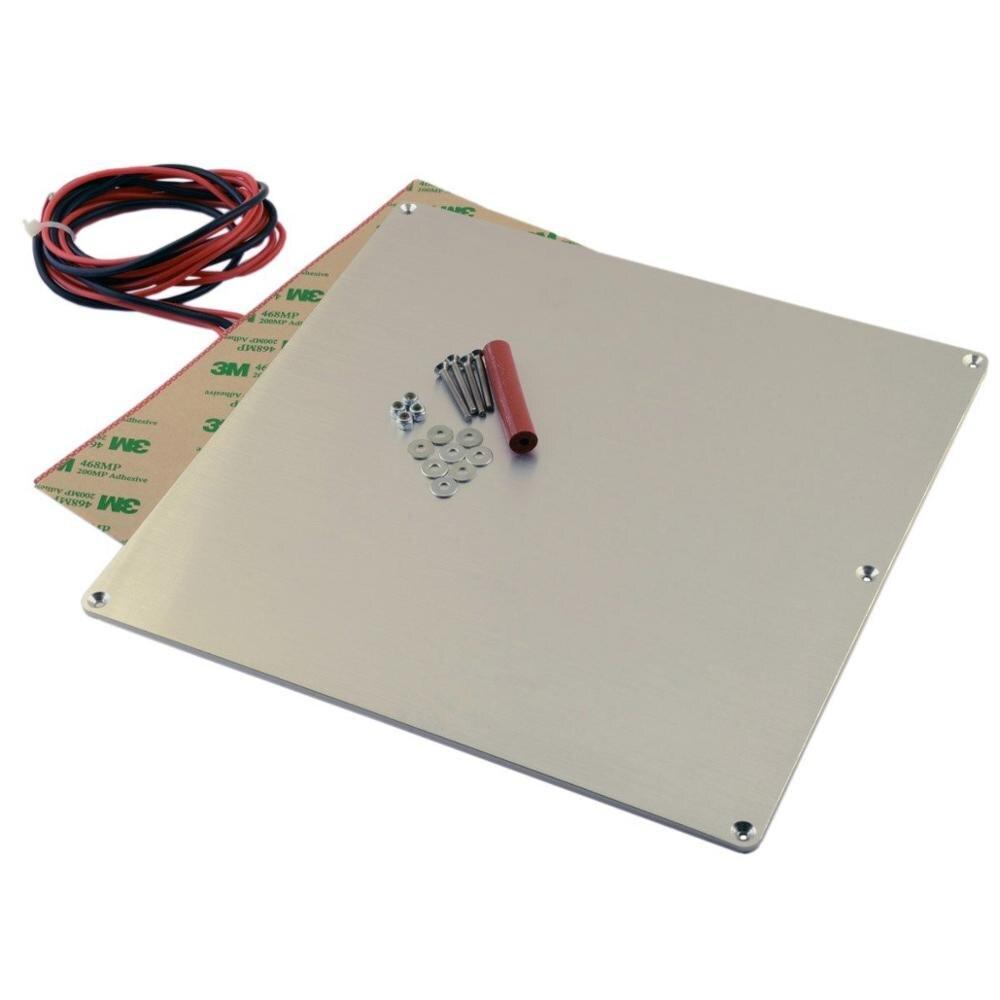 Funssor V2 Aluminum Heated Bed Build Plate 12V 120W Heater Full Thermistor Kit for Prusa i2
